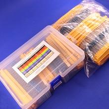 2600pcs 130 ערכים 1/4W 0.25W 1% סרט מתכת נגדים מגוון חבילה ערכת סט הרבה נגדים מבחר ערכות קבלים קבועים