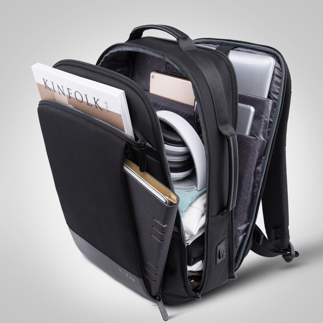 Bange 15.6'' Laptop Backpack External USB Charge Computer Backpacks Anti-theft Waterproof Travel Backpack  for Men Women 1