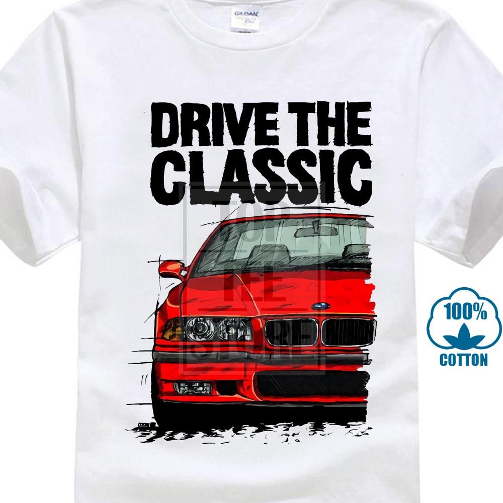 Summer 2018 Short Sleeve Plus Size Drive The Classic Germany Classic Legend Car E36 Red Car Logo T Shirt Grey T Shirt 019076