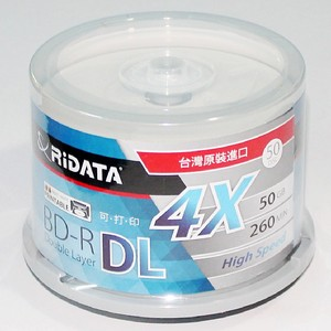 Image 3 - 50 パック/1 ridata/ritek ボックス a + 品質ブランクインクジェット印刷可能なブルーレイ dl 2 8x デュアル層 50 ギガバイト bd dl ディスクオリジナルケーキボックス