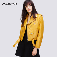 Special Offer Autumn New Style WOMEN'S Dress Z Home European And American Streets Short Locomotive Leather Jacket Pu Washin