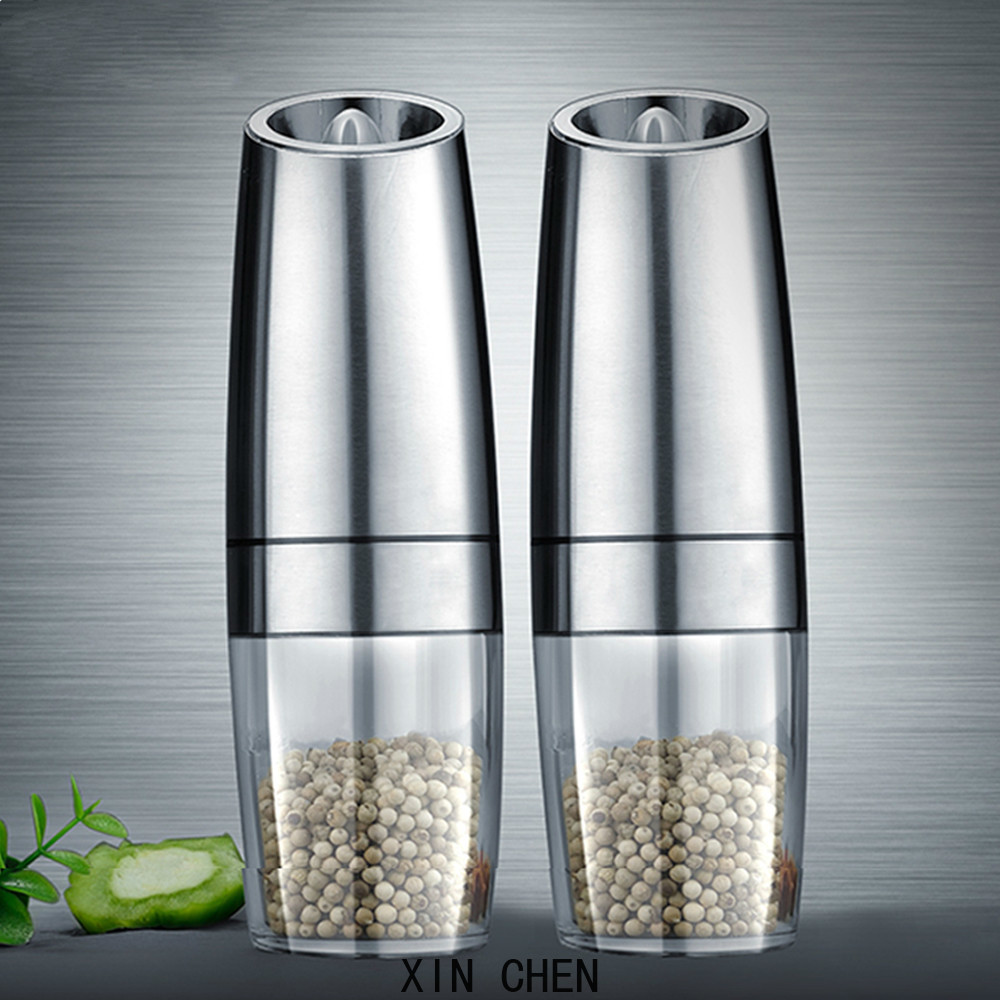 kitchen tools Battery electric automatic grinder and salt mill LED light pepper spice grain grinder a good assistant for