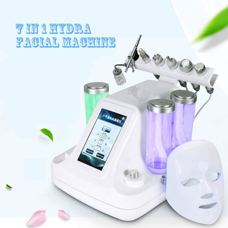 7 In 1 Vacuum Face Cleaning Ultrasonic Massage Hydra Water Oxygen Jet Peel Skin Lifting Facial Machine Skin Care BIO RF Beauty