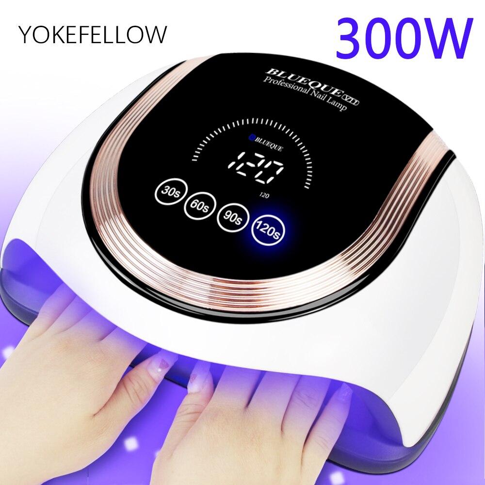 Гель Светодиодная УФ-лампа для ногтей 60LED 300W маникюрный светильник Сушилка для ногтей гель для ногтей с датчиком движения Сенсор сенсорный ...