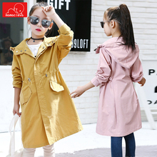 new autumn winter  girls trench coat kids fashion hooded jackets children long windbreaker child casual outerwear autumn winter thin jacket girl coat children hooded outerwear windbreaker girls parka kids clothes casual long jackets for girls