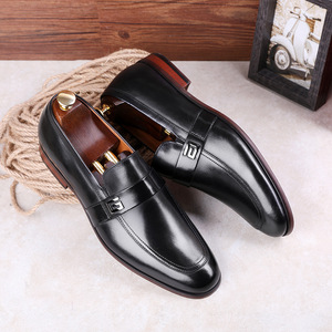 Image 5 - Desai Male Shoes Genuine Leather 2020 New Metal Decoration Leather Handmade Soft Comforable Leather Men Loafers Causal Shoes