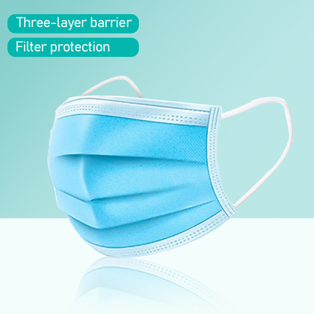 50/100PCS Disposable Mask Dust Mask Fine Smog PM 2.5 Air Filter Mask Pollen Safety Anti Proof Mascaras Windproof Mask Face Masks 4