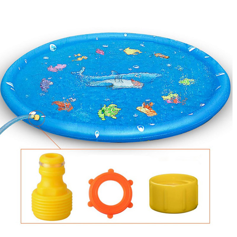 Water Mat Children'S Outdoor Play Water Games Beach Mat Lawn Inflatable Sprinkler Cushion Toys Cushion Gift Fun For Kids Baby