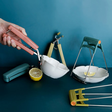 Bowl Clip Cooking-Tong Multi-Functional Heat-Resistant Stainless-Steel Dish-Grabbing-Device