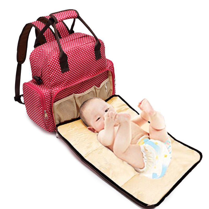3-in-1 New Fashion Quality Baby Backpack Changing Pad Infant Baby Foldable Urine Mat Waterproof Travel Outdoor Nappy Diaper Bag