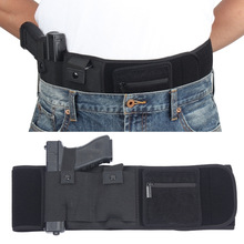 Tactical Concealed Carry Gun Holster Elite Duty Ambidextrous Belly Band With Mag Pouch and Wallet Card Pocket