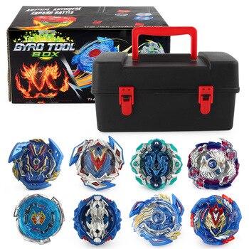 DIY Bayblade Burst Evolution with 12-piece Blue Devils Set Burst Gyro Toy Child Burst Gyroscope Metal Fusion Storage Box Toolbox фото