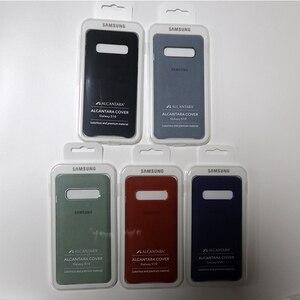 Image 5 - Samsung S10 Case oficjalna oryginalna prawdziwa skóra zamszowa etui samsung s10 plus telefon ochraniacz na drążek skrzyni biegów dla Galaxy S10e S10 + okładka
