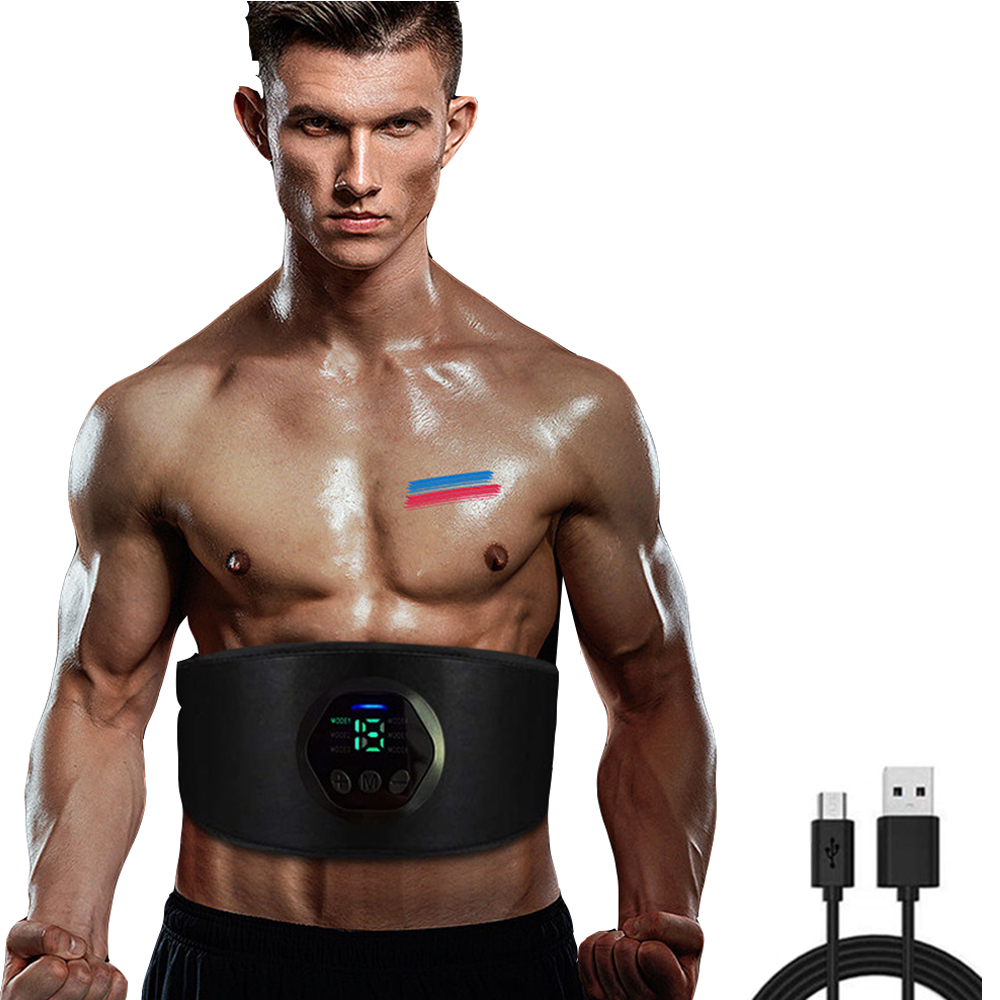 Smart Fitness Belt Abs Stimulator Electronic Abdominal Muscle Stimulator Toning Belt Body Slimming Belt Weight Loss Unisex XA9Z