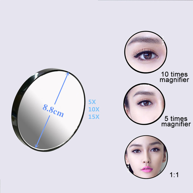 Makeup mirror lights magnifying  makeup storage Base 3 Modes light up vanity mirror and detachable  beauty Illuminated mirrors