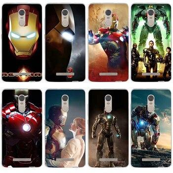 Miękki TPU silikonowy futerał na telefon dla Xiaomi Redmi Mi uwaga 2 3 3S 4X 4A 5 6 5 5S 5A 6 8 A1 Pro Plus torba Super Hero Iron Man Jarvis