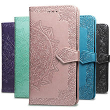 Mandala Leather Case Voor Xiao mi rode Mi 7A 6 6A 5 PLUS 4A Note 5A 4 4x5 6 7 Pro 3S Gaan mi 9 se 9 t A1 A2 8 lite Rood Mi 7A flip COVER(China)
