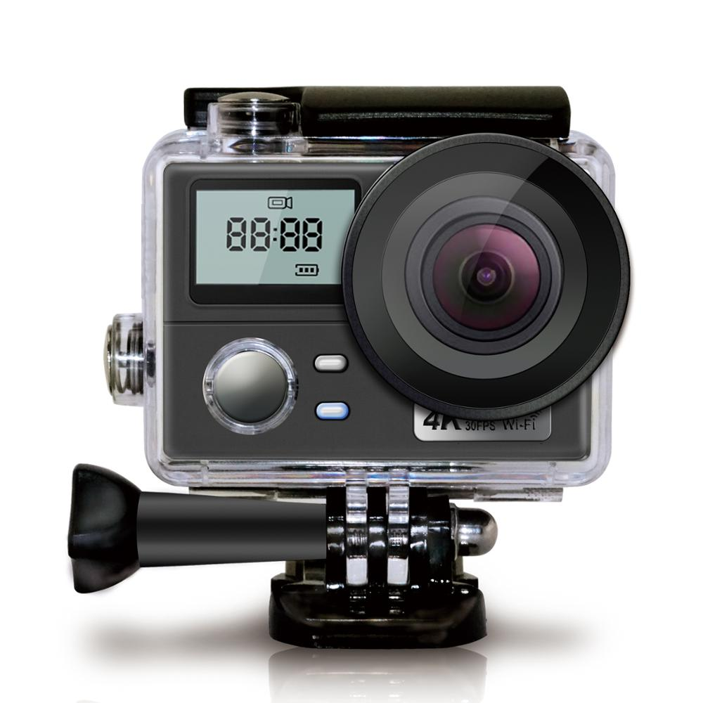 WiFi Ultra HD Action Camera 4K 30fps Dual Screen 16MP Sport Camera Go Waterproof Pro Sports Cam Helmet Video Recording Camera image