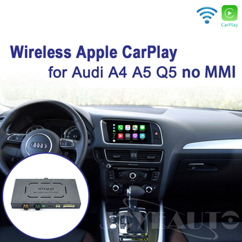 Joyeauto Wireless iOS/Android Carplay Retrofit 2009-2015 A4 A5 Q5 S5 B8 Non MMI for Audi Car Play Android Auto with Waze Spotify