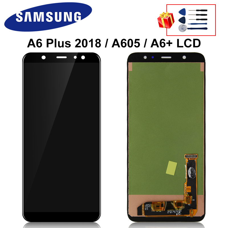 A605F LCD Display For Samsung Galaxy A6 Plus 2018 Full Display A605FD A6+ A605 LCD Touch Screen Digitizer Replacement Parts