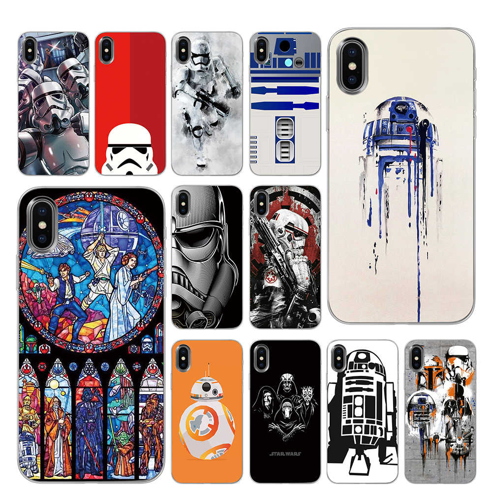 Star wars silicone casos de telefone para iphone 5 5S se 6s 7 8 plus x xs max xr capa traseira