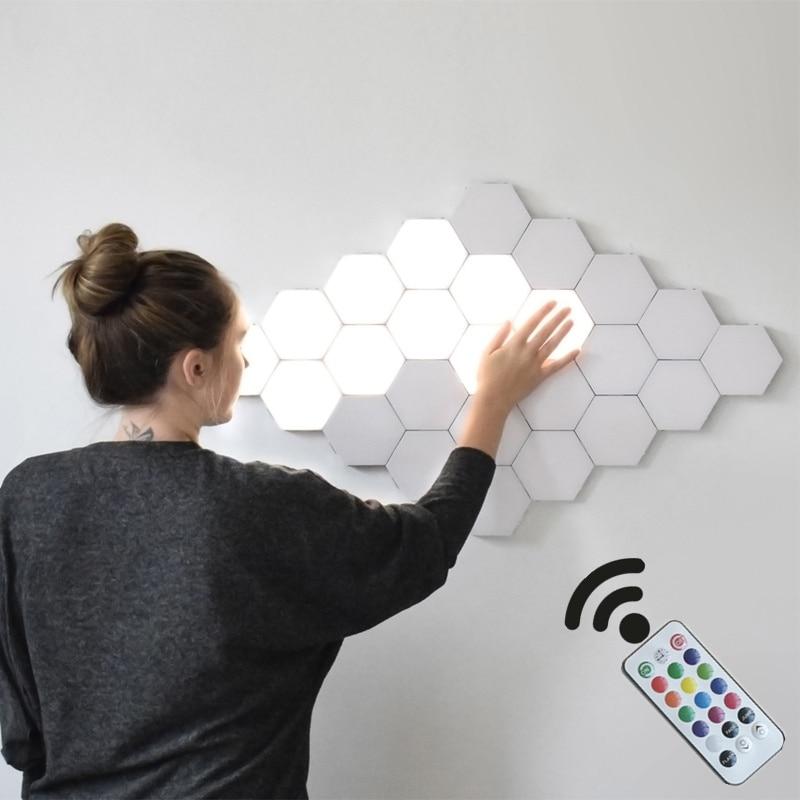 New Generation  DIY Quantum Lamp Touch Sensitive RGB Night Lamp Modular Hexagon Luminaria Creative Helios Touch Lamparas