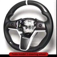 Comprar https://ae01.alicdn.com/kf/Hc6568073d55c474a9b38e84eab2f0282M/Embellecedor para volante para Tesla model 3 accesorios accesorios de coche model 3 tesla tres tesla.jpg