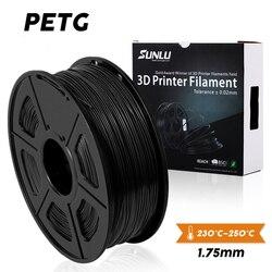 SUNLU PETG 3D imprimante Filament 1.75mm Dooling cadeau matériel offre spéciale couleur noire PETG 3D Filament consommables 1 KG/2.2LBS