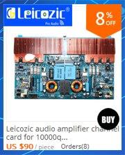 Leikozic 8-channel audio mixer FX8-USB montagem em