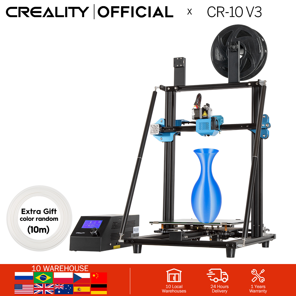 CREALITY 3D CR-10 V3 Printer Size 300 300 400mmTMC2208 Silent Mainboard Resume PrintingBL touch Optional Not pre-installed