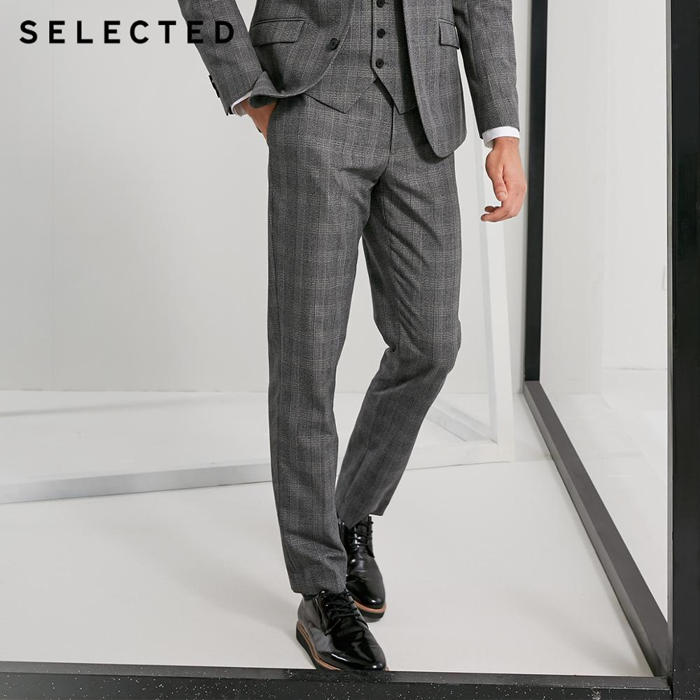 SELECTED Men's Suit Pants Retro Body Suit Business Slim Fit Pants Western Trousers S | 41836A506