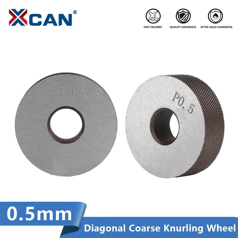 XCAN Anti Slip Diagonal Coarse Knurling Wheel 2pcs 0.5mm