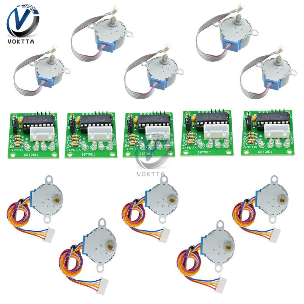 5 Set ULN2003 Driver Board Module + 28BYJ-48 5V/12V Reduction Gear Stepper Motor 4 Phase Step Motor For Arduino DIY Kit
