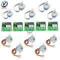 Партиями по 5 комплектов ULN2003 драйвер платы модуля + 28BYJ-48 5V/12V снижение Шестерни шаговый двигатель 4 фазы шагового двигателя для Arduino DIY Kit
