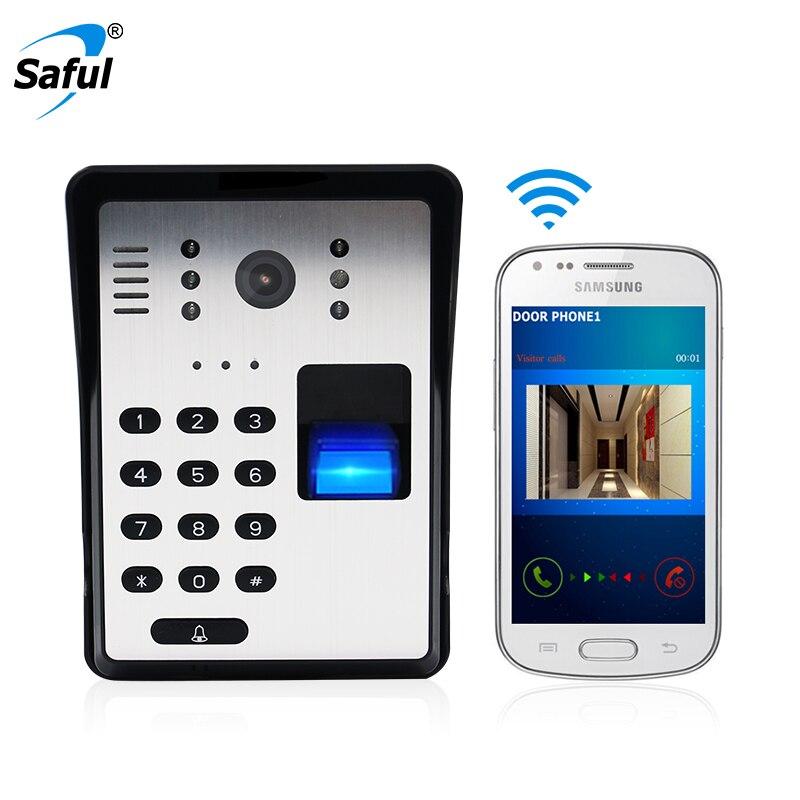 Wireless Wifi Video Door Phone Bell Wireless Video Intercom Doorbell Support Fingerprint RFID Password Remote Unlocking
