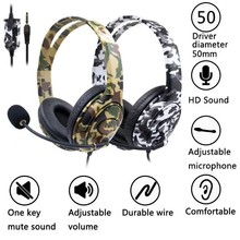 For PS4 Wired Gaming Headset Headphones Earphones with Micro
