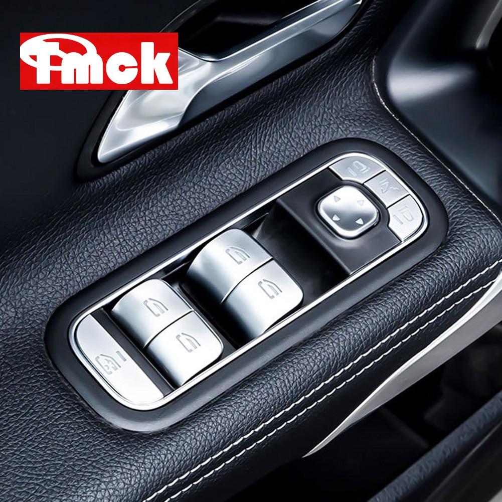 Mercedes Benz için bir B C E CLA GLE GLC CLS GLS GLB sınıf W177 W205 W213 C118 W167 araba pencere kaldırma düğmesi yama ayar kapağı Sticker