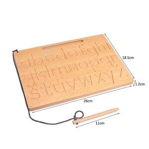 Image 5 - Placa de brinquedo montessori, brinquedo para matemática de reconhecimento digital, 0 9, prática para crianças, prática de treinamento pré escolar, madeira