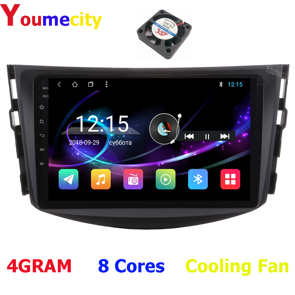 Youmecity Car Dvd Multimedia Player For Toyota RAV4 Rav 4 2007 2008 2009 2010 2011 2din Gps Wifi Rds Android 9.0 Carplay 8 cores image