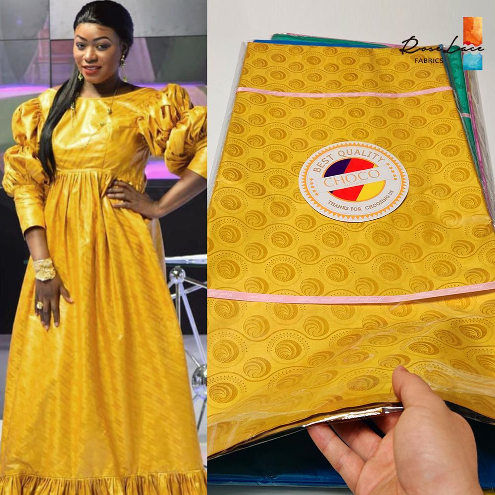 2020 de alta qualidade bazin riche getzner bacia riche tecido senegal 5 metros ouro nigeriano tecido 100% algodão tecido renda africano