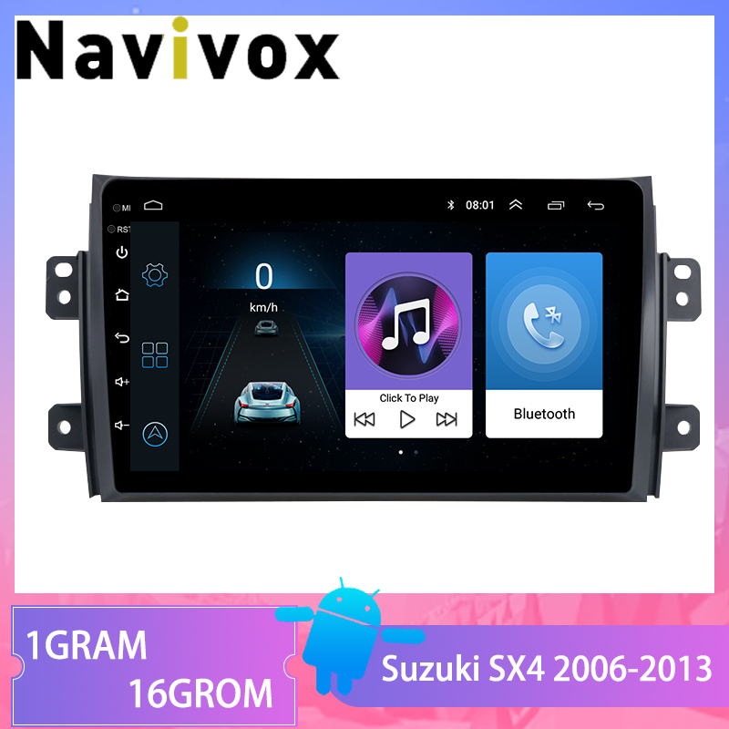 Navivox For <font><b>Suzuki</b></font> <font><b>SX4</b></font> 2006 2007 <font><b>2008</b></font> 2009 2010-2012 <font><b>Android</b></font> 8.1 2din Car Multimedia Player Radio GPS Navigation WIFI SWC image