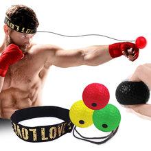 Boxing Reflex Ball Head Band Fighting Speed Training Punch Ball MMA Sanda Boxer Hand Eye Training Set For Gym Muay Thai Exercise