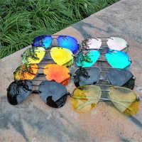Hommes lunettes de soleil polarisées hommes classique rétro pilote lunettes de soleil en aluminium cadre miroir lentille lunett