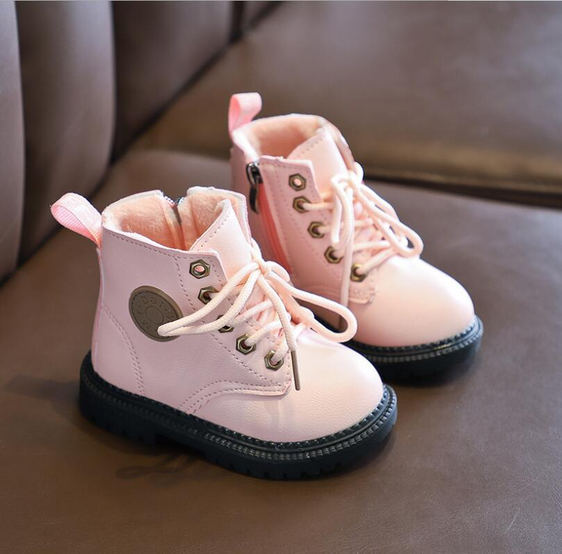 Children Snow Boots Shoes For Girls Boys Boots Fashion Soft Bottom Baby Girls Boot 21-30 Autumn Winter Kids Boots