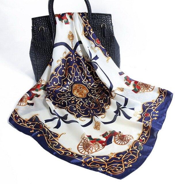Women's Accessories Scarf Multifunctional Hair Tie Head Band Shawl Ladies Silk Scarves Bandanas