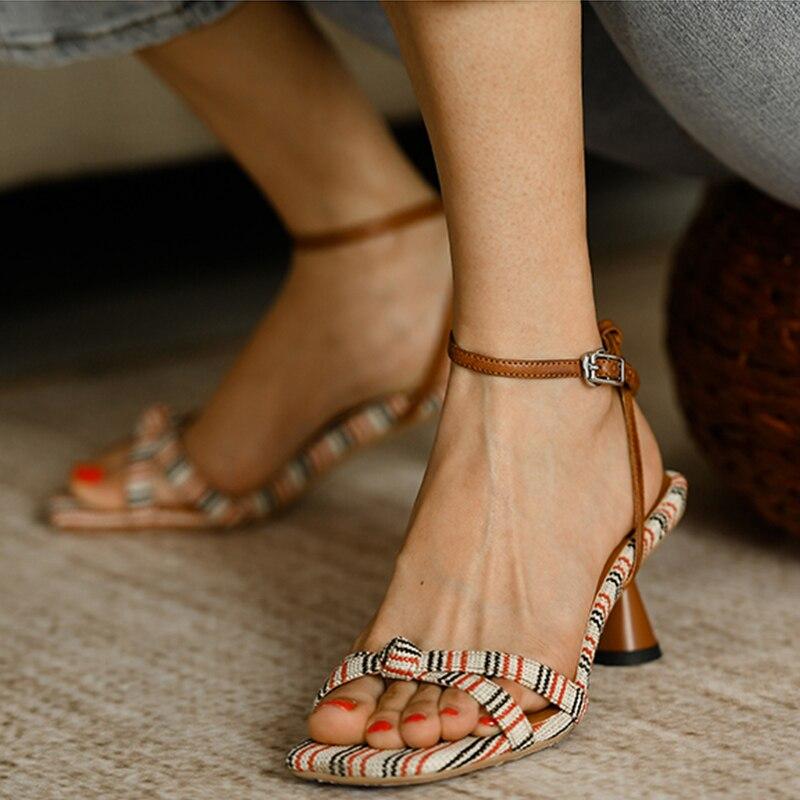 cinta salto alto sandálias femininas verão gatinho