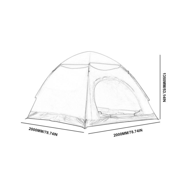 Outdoor Automatic Tents Camping Waterproof Tents 3-4 People Beach Camping Showers Speed Open Double Tent 6
