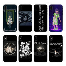 Billie eilish ropa rainbow blohsh Oceano Olhos TPU Caso de Telefone Silicone Coque Para or iphone X 5 6 6 SPlus 7 8 Mais XS MAX(China)