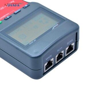 Image 2 - Тестер сетевого телефонного кабеля NF_8200 LCD LAN тестер RJ45 Кабельный тестер Ethernet кабельный трекер