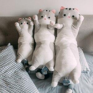 70/90/110 см гигантская мягкая плюшевая игрушка для кошек, чучела животных, продукт для детей, подушка, мягкая кошка, детские игрушки, успокаиваю...